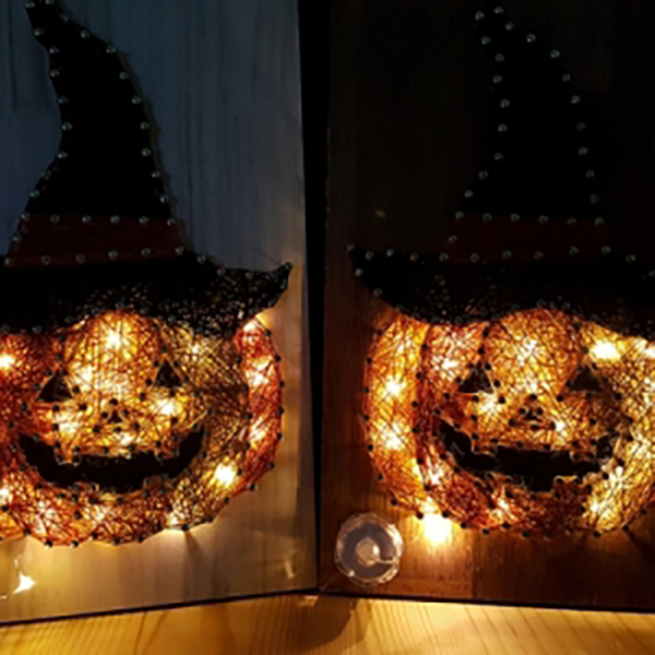 할로윈 호박 스트링아트(우드-Dark/LED)