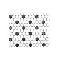 육각 패턴타일 265*312 1헤베-13장 블랙 (2color)