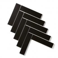 [어반테고] 헤링본 모자이크 타일(S) 230*350 | 1BOX 1m2 19pcs | 6color | 블랙