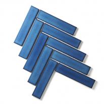 [어반테고] 헤링본 모자이크 타일(S) 230*350 | 1BOX 1m2 19pcs | 6color | 다크블루