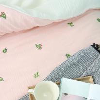 선인장 쮸리거즈 양면차렵침구 핑크