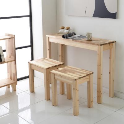 사이드 바 테이블 800x300 자연주의 원목 삼나무 아카시아 다용도 홈바 식탁