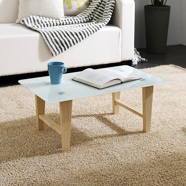 스틸 강화유리 사각테이블 좌식 노트북 이동 테이블
