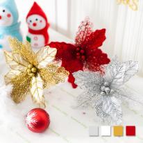 유니크포인꽃가지 중(4색상) 크리스마스장식 트리장식