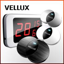 [벨럭스] 슬림형호출벨 세트상품/모니터(VM330A) 1EA+ 호출벨(VB400_화이트UV,실버UV) 10EA