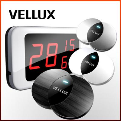 [벨럭스] 슬림형호출벨 세트상품/모니터(VM330A) 1EA+ 호출벨(VB400_흑무늬목UV) 10EA