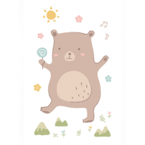 [자체제작/DTP컷트지]슬리핑프렌즈 곰(153103)