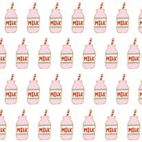 자체제작/무형광이중거즈]우유주떼여(딸기우유) (146938)