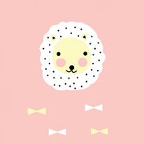자체제작/대폭/꼰사인견컷트지]핑크라이언(148051)