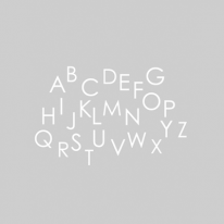 자체제작/대폭/무형광이중거즈]알파벳송-그레이 (148055)