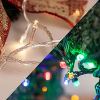 LED 30P 전구 투명선 녹색선 (3색상) 크리스마스전구
