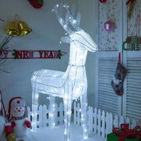 LED 니켈사슴 120cm 화이트 크리스마스전구