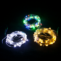LED 50P 건전지용 드럼전구 투명선