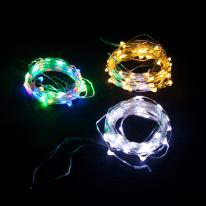 겸용LED50P 드럼전구 투명선(3색) 크리스마스전구