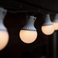 LED 무점멸 15P 방수용 볼전구 검정선 연결용(콘센트)