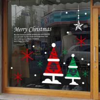 JMCS3027 세모트리 02 크리스마스 눈꽃 스티커 장식