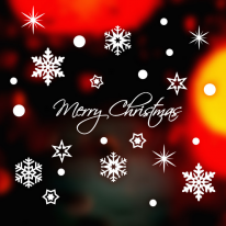 JMCS3010 겨울눈꽃10 크리스마스 스티커