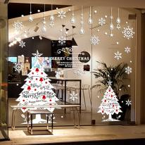 JMCS3056 트윙클트리세트 크리스마스 눈꽃 스티커 장식
