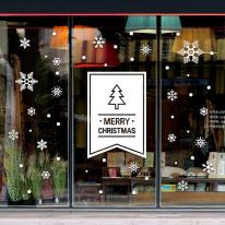 JMCS3161 심플 트리 플래그 눈꽃세트 크리스마스 스티커
