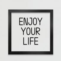 pc124-인생을 즐겨라투명액자