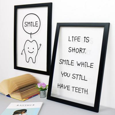 pb166-치아가있을때웃어요투명액자