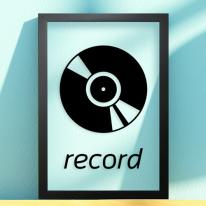 pb163-레코드투명액자