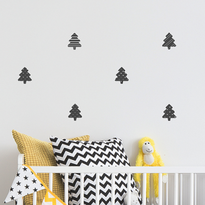 북유럽 패턴 트리_ 크리스마스 데코스티커, 크리스마스 북유럽 장식