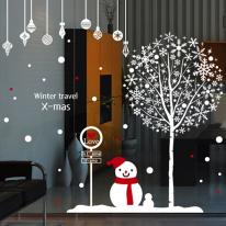 cmi263-눈꽃X-mas_윈터 트래블-크리스마스스티커