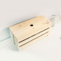 [스타일박스] 522. 프리 케이블박스 -  삼나무 원목 전선 멀티탭 정리함