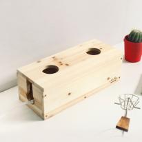 [스타일박스] 526. 도트 케이블박스 - 삼나무 원목 전선 멀티탭 정리함