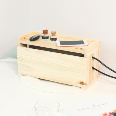[스타일박스] 521. 하마 케이블박스 - 삼나무 원목 전선 멀티탭 정리함