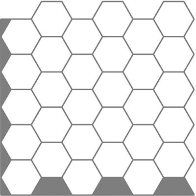 점착식 우레탄 입체 타일 허니컴 화이트 (T80503)
