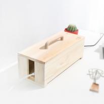 [스타일박스] 519. 손잡이 케이블박스 - 삼나무 원목 멀티탭 전선 정리함