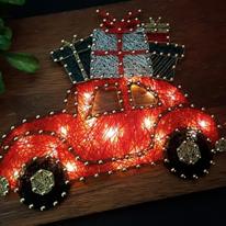 선물차 스트링아트(우드/LED)