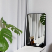 모더미 블랙 라운딩 거울