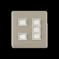 레트로 스위치 플레이트 5구 - 3color