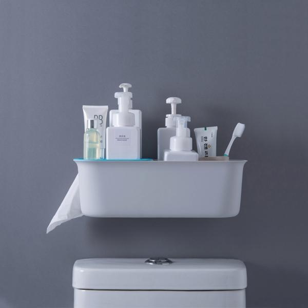 다용도 욕실 벽선반 (간편설치) 4color