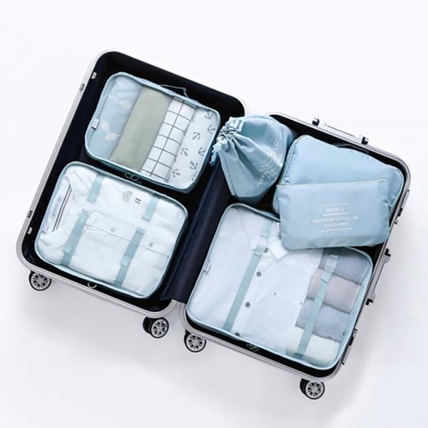 베이직 여행용파우치 6종 세트 (3 color)
