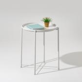 [무료배송] 인더프레임 원형 트레이 사이드 테이블 (2color)