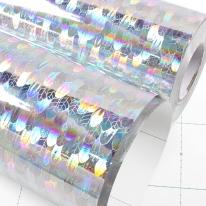 홀로그램시트지 ( IT-P526 ) 리프실버 / 시선집중효과,라벨,광고,스티커제작