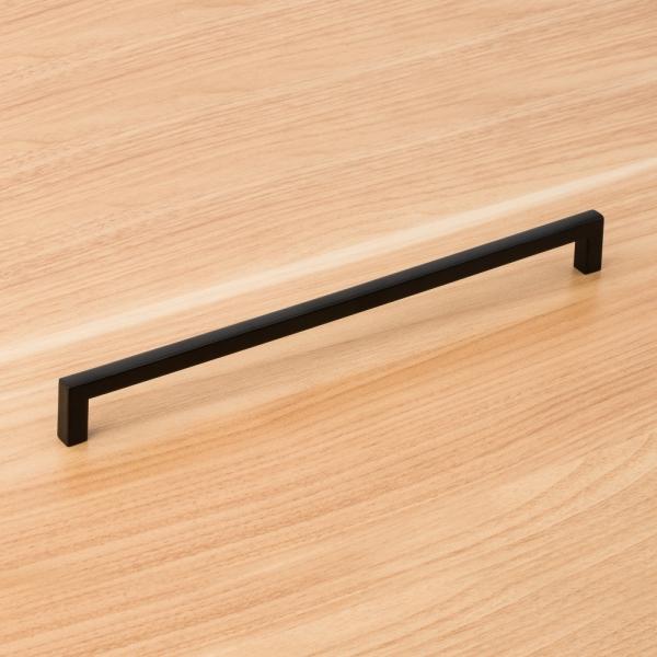 슬림사각 가구손잡이 (256mm-블랙)