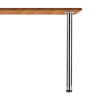 테이블다리/가구다리 원형 포인트 (50Ø) 크롬