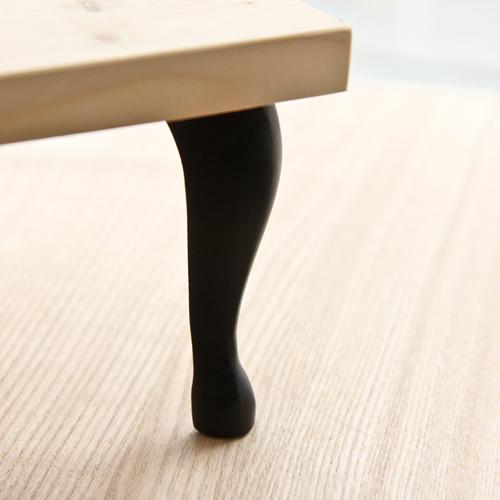 가구다리/학다리 블랙 (길이선택)