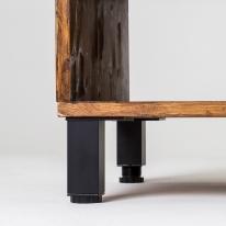 가구다리 사각 알루미늄 - 블랙 (길이조절)