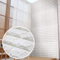 쿠셔니폼블럭 인테리어 셀프벽지 롤 10m 파벽돌