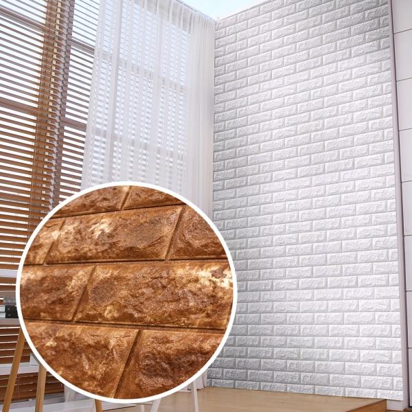 쿠셔니폼블럭 인테리어 셀프벽지 롤 20m 파벽돌