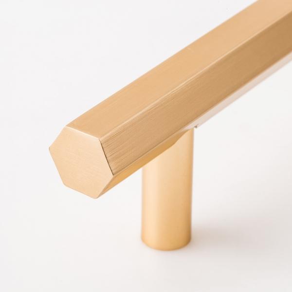육각 로즈골드 가구손잡이(128mm)