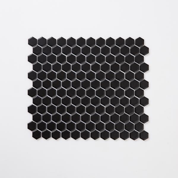 허니비 모자이크 타일 265x310 1BOX 1장 - 블랙
