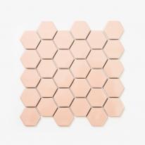 육각 모자이크 타일 290x290 1장 - 핑크