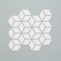 큐브육각 모자이크 타일 305x266 1장 - 화이트
